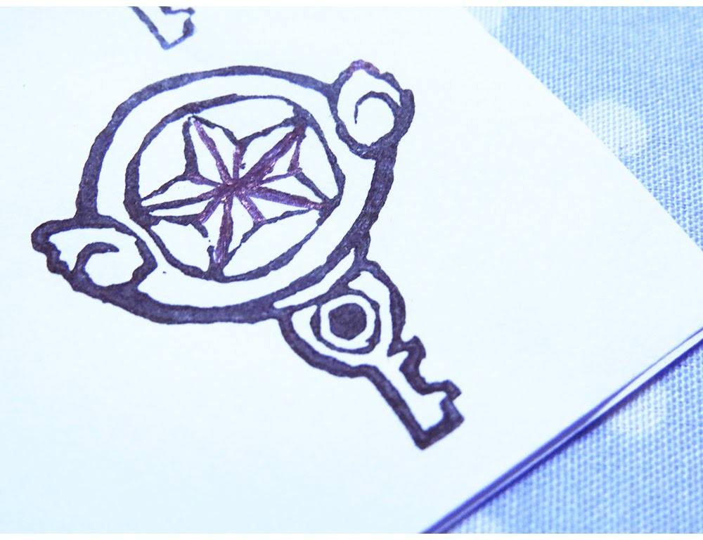 Sello Llave de Sakura card Captors.Sakura card captors key Stamp