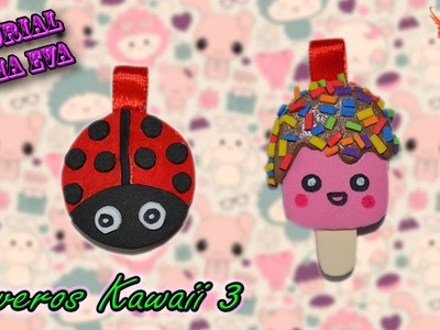 ♥ Tutorial: Llaveros Kawaii 3 de Goma Eva (Foamy) ♥