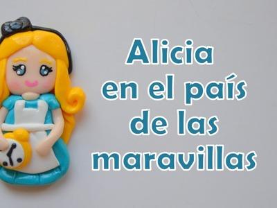 Alicia en el país de las maravillas (arcilla polimérica) - Alice in wonderland
