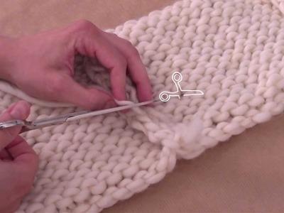Aprender a tejer - ¿Cómo unir la labor de punto?