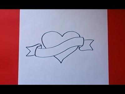 Como dibujar un corazón paso a paso | How to draw a heart