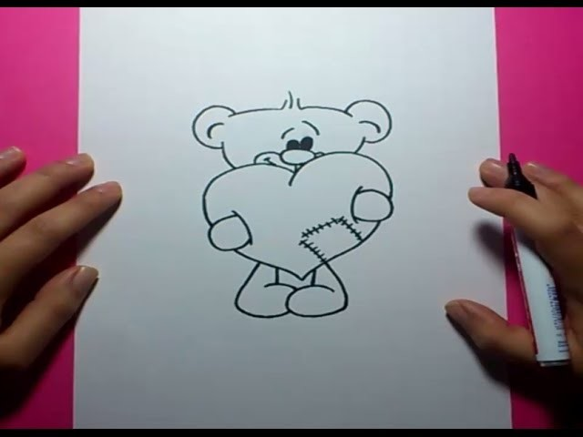 Como dibujar un oso de peluche paso a paso 12 | How to draw a teddy bear 12