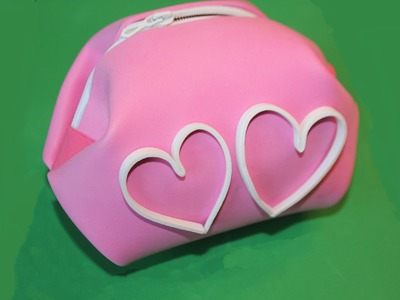 Cómo hacer bolsa en foamy con cremallera, sin coser