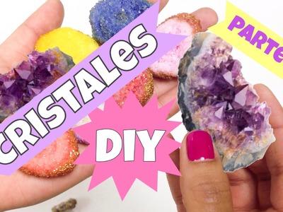 Como hacer cristales(parte 2)manualidades fáciles.