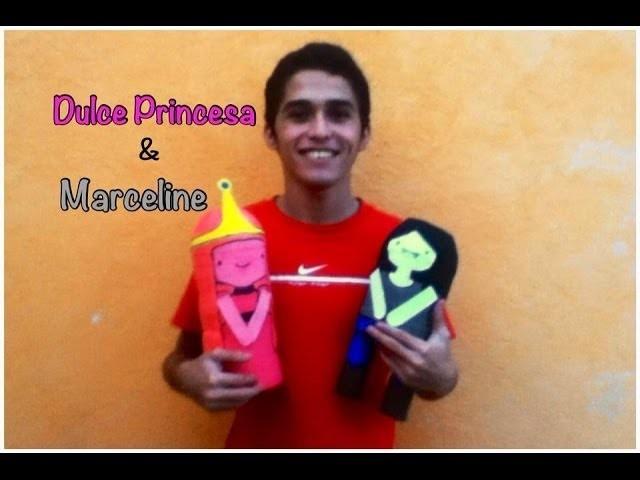 """""""Como hacer las muñecas de Marceline y Dulce Princesa de Hora de Aventura"""" - Consejosjavier"""