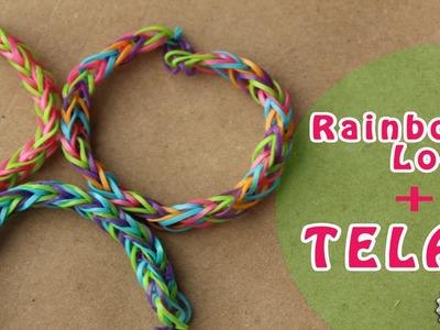 Cómo hacer Pulseras de Ligas RAINBOW LOOM + tu propio telar - floritere - 2014