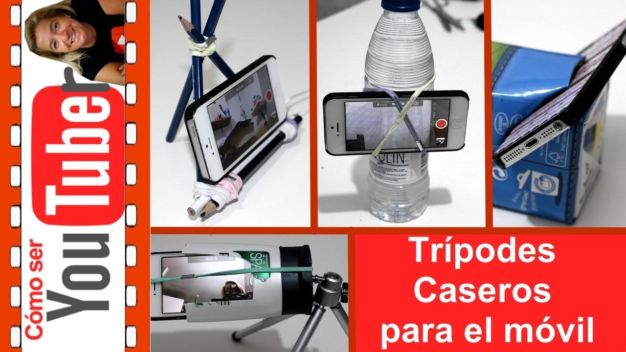 Cómo hacer trípodes caseros para el móvil o celular