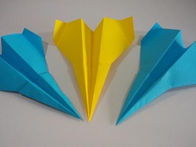 Como hacer un avion de papel que vuela muy rapido