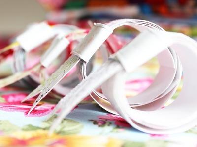 Cómo hacer washi tape en casa: Tutorial