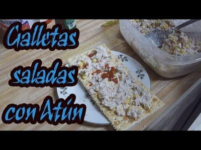 Como preparar galletas saladas con atún