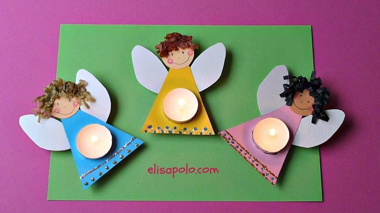 DIY, Cómo hacer un Ángel, Manualidades para Navidad, Christmas Angel,Christmas Angel Candle.