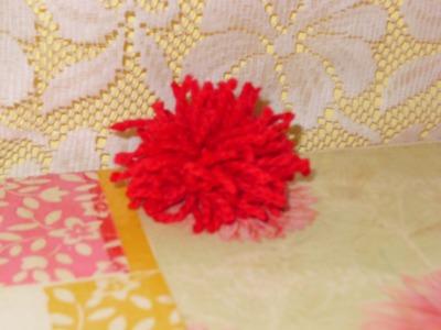 DIY Cómo hacer un lindo pompon con estambre