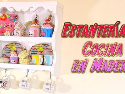 DIY estanteria de madera con palets, manualidades para la cocina, regalo para El Mundo de Isa