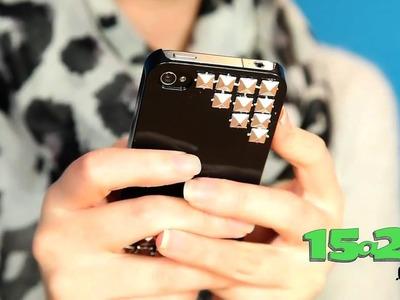 DIY Funda para tu celular con estoperoles