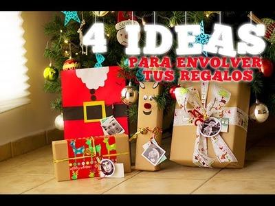 DIY ¡4 IDEAS ORIGINALES PARA ENVOLVER TUS REGALOS! - ESPECIAL DE NAVIDAD #4