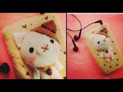 Funda para celular gatocerdito SUPER FACIL! ♥ MIKU