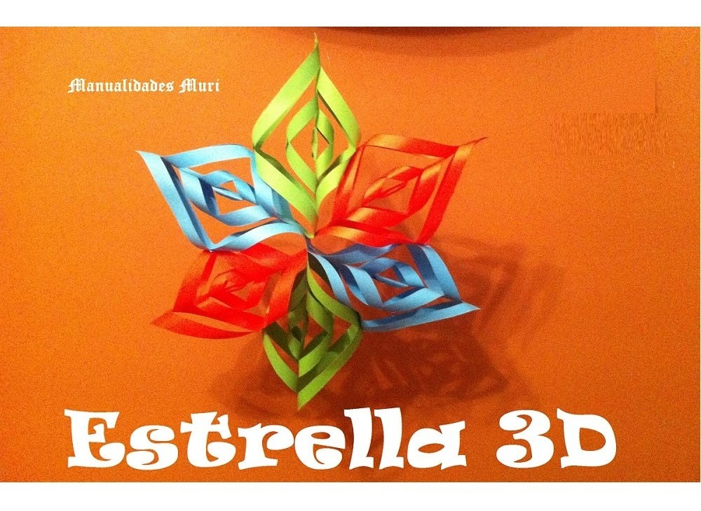 Manualidades. Guirnalda Estrella Colgante 3D. Navidad.