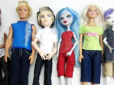 Manualidades para muñecas: Haz pantalones largos.cortos para tus muñecas.  muñecos