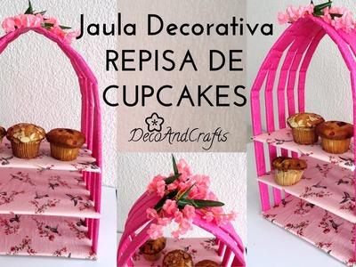 Mesa de Dulces  Jaula Decorativa. Exhibidor Cartón de CupCakes - DecoAndCrafts