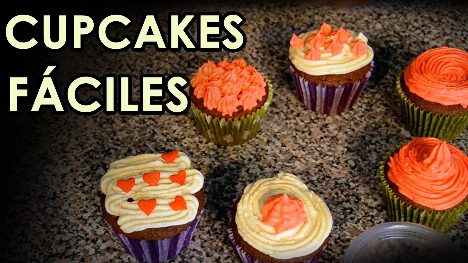 Recta de Cupcakes decorados muy rápida   Muffins panqué (Recetas de cocina faciles y deliciosas)
