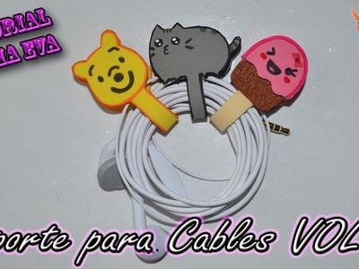♥ Tutorial: Soporte para Auriculares. Cables de Goma Eva VOL 2 (Foamy) ♥