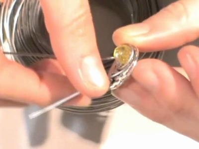 Abalorios - Anillo cristales de Bohemia y aluminio