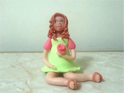 Adornos de Porcelana fría rostro de  muñeca linda paso a paso