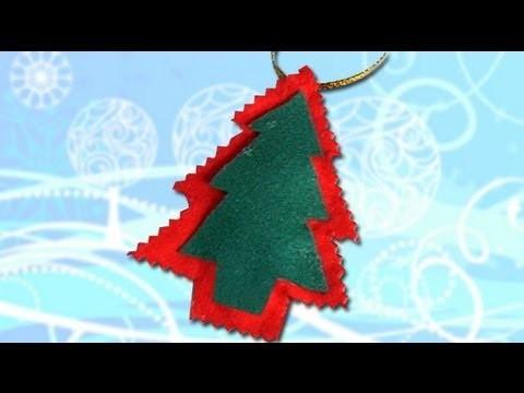Árbol de Navidad, hacer adornos con fieltro, manualidades