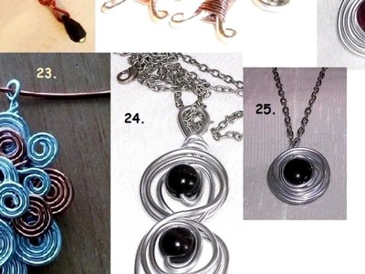 Catalogo pendientes anillos pulseras y aretes de alalambre de aluminio