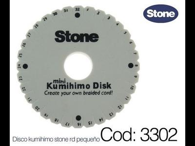 COD.3302 Manejo de  la Técnica KUMIHIMO, Pulsera cordon seda