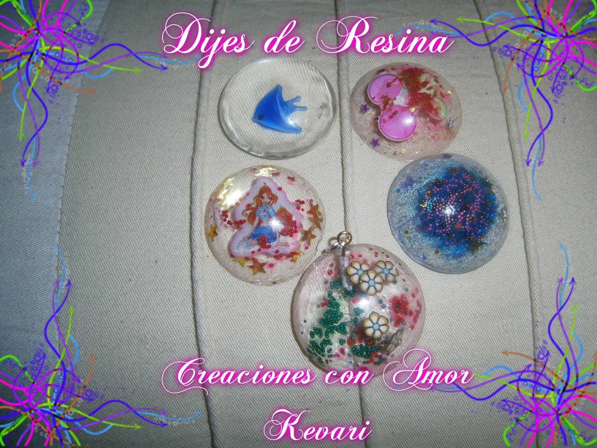✿✿❤ ❥ ♡ ♥ ღComo hacer Dijes de Resina.How to make resin charms✿✿❤ ❥ ♡ ♥ ღ