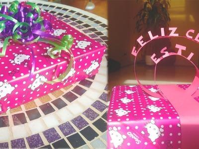 Como envolver regalos FACIL y decorarlos BONITOS