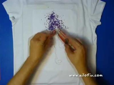 Cómo estampar una camiseta con ceras