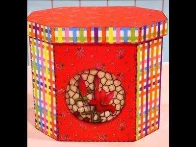 Como hacer arte europeo en cajas para galletitas