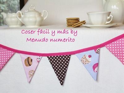 Cómo hacer banderines para una mesa dulce o una habitación infantil