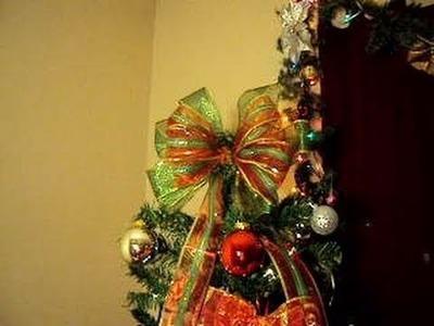 Como Hacer Moño Navideño, para el arbol de Navidad.