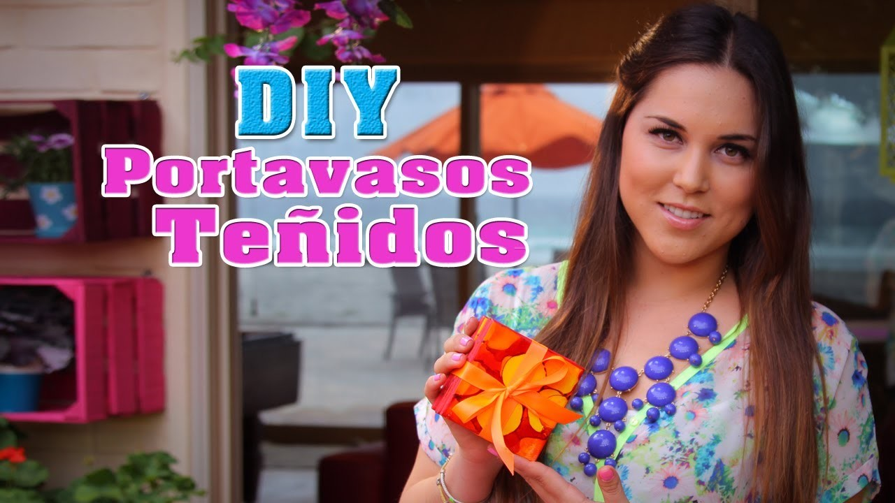 Cómo hacer portavasos teñidos (DIY) - Fun DIY's con Karla