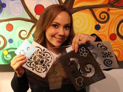 Como hacer tus propios stencils o Plantillas . Make your own stencils