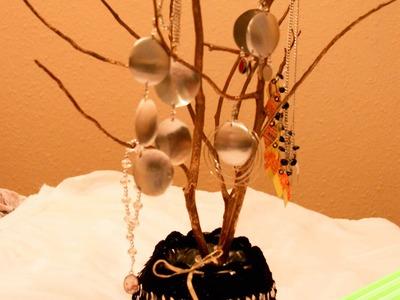 Como hacer un arbolito joyero.Proyecto de Reciclaje anillas y CD parte 1