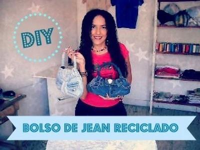 Como hacer un Bolso de Jean Reciclado - Tutorial de SANDRA PADILLA