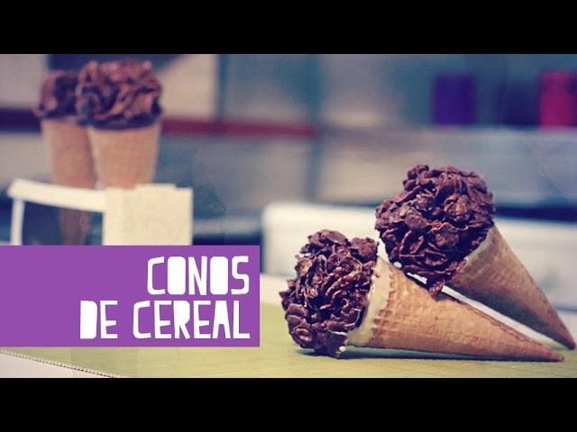 Conos de cereal con chocolate! (Juno)