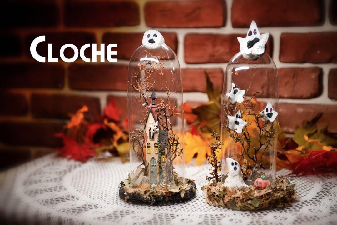 Decoraci n halloween de botella pet elegante y facil cloche - Decoracion halloween ...