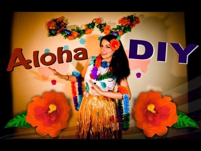 DIY: Collar y Flor Hawaiano con papel crepé