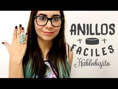 DIY Cómo hacer anillos fáciles. Accesorios de Moda - Hablobajito