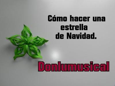 DIY CÓMO HACER UNA ESTRELLA DE NAVIDAD Christmas Star Donlumusical