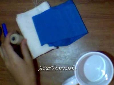 DIY: facil flor de tela: rápido, fácil y resistente