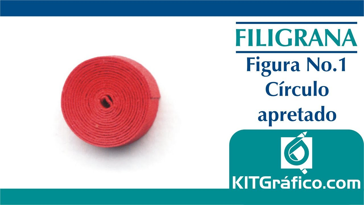 Filigrana (Quilling) figura básica No.1 - Círculo apretado