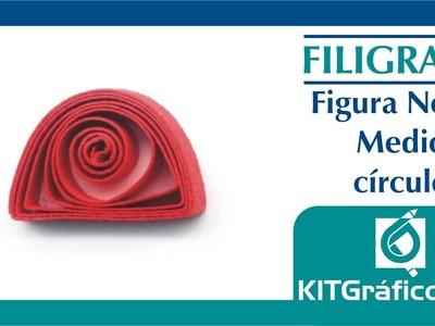 Filigrana (Quilling) figura básica No.13 - Medio círculo - kitgrafico.com