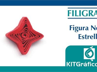 Filigrana (Quilling) figura básica No.10 - Estrella - kitgrafico.com