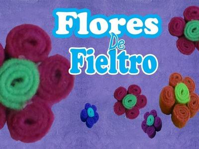 Flores de Fieltro (Manualidad XpresS).Como se hace.